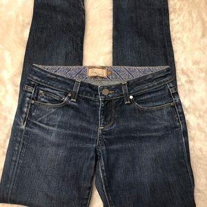 PAIGE Roxbury Skinny Jeans, dark wash, size 26
